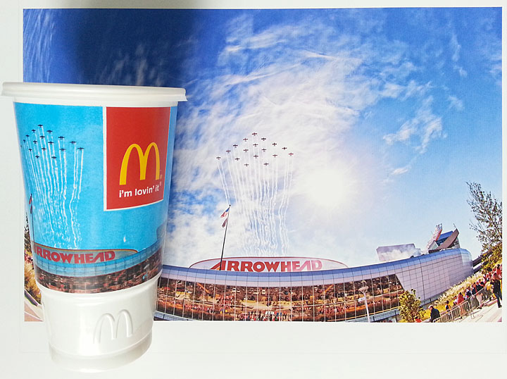 Arrowhead Flyover on McDonalds Cup